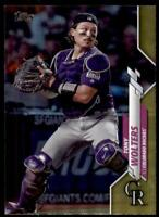 2020 Topps Series 2 Base Gold Foil #387 Tony Wolters - Colorado Rockies