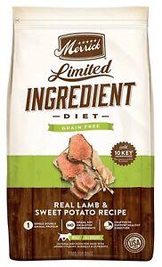 Merrick Limited Ingredient Diet Lamb & Sweet Potato Recipe Dry Dog Food, 12 lbs