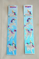 1980's Toots Unicorn Sticker strips By Chao-Ching Yu
