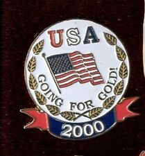 USA Olympic Team Going For Gold Patriotic American Flag Sydney 2000 Lapel Pin