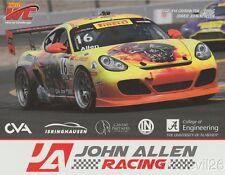 """2016 John Allen """"John Allen Racing"""" Porsche Cayman GTS SCCA PWC postcard"""