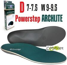 Powerstep ArchLite Full Length Cushioned Shoe Insoles Size D M 7-7.5 W 9-9.5