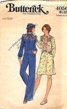 Vtg 1970s Butterick Sewing Pattern Teen Women's JEAN JACKET PANTS 4056 5/6 UNCUT
