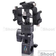 Tri-Hot Shoe Mount Flash Bracket/Umbrella Holder④ Nikon SB800/SB700/SB880DX/SB26