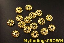 200PCS Antiqued gold flat round spacer beads 7mm FC92