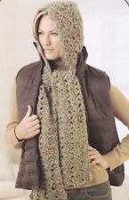Crochet Pattern ~ LADIES WARM HOODED SCARF ~ Instructions