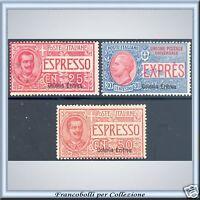 Colonie 1907-21 Eritrea Espressi serie n. 1/3 Nuovi *