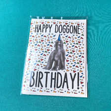 Afghan Hound Dog Happy Birthday Greeting Card Handmade Funny Celebration Card