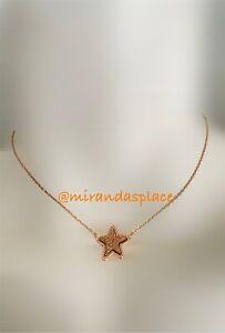 NEW Kendra Scott Jae Star Drusy Rose-Gold Pendant Necklace