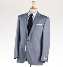 NWT $1275 RICHARD JAMES Blue and Green Woven Check Wool Suit 40 R Two-Button