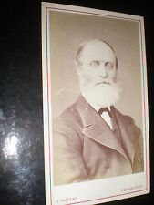 Cdv old photograph Entomologist Botanist William Wilson Saunders c1870s