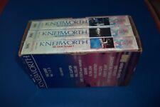 KNEBWORTH BOX 3 VHS ERIC CLAPTON, PHIL COLLINS, DIRE STRAITS, GENESIS.... NUOVO