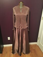 Cachet Light Brown Mother of the Bride Groom Formal Dress Womens Size 12