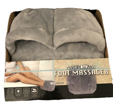 New Gray Plush Cordless Foot Massager (One Size Fits Most)