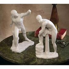 Roman Gladiator & Hermes Nude Male Form Bonded Marble Replica Sculpture