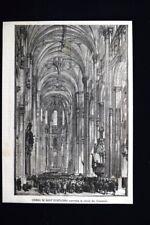 Chiesa di Sant'Eustachio + Saluto scortese da Monte Valeriano Incisione del 1871
