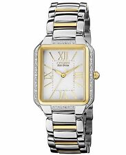 Citizen Eco-Drive Women's EM0194-51A Diamond Bezel Two Tone Watch