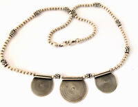 Vintage Sterling Silver Droplet Pendant 16 INCH Silver Bead Necklace GIFT BOXED
