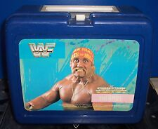 "Vintage 1989 WWF Superstars ""Hulk Hogan""  Plastic Lunch Box w/Thermos WWE [292]"