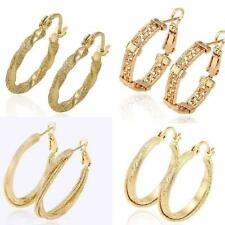Unbranded Hoop Yellow Gold Filled Costume Earrings