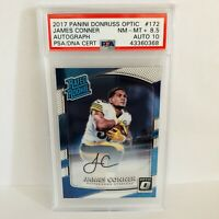 James Conner 2017 Panini Donruss Optic Rated Rookie PSA 8.5 Auto 10 RC