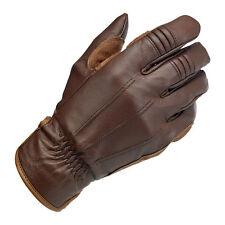 Biltwell Work Motorrad Handschuhe, Echtleder, braun Größe XL