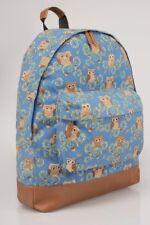 VINTAGEtravelBLUE fauxbrownleather OWL PRINT backpack BNWT bag BOHO strong
