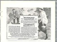 1914 EVINRUDE advertisement, Evinrude outboard motor, half-page