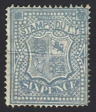 Victoria Postal Fiscal 1884 6d dull blue perf 12.5 SG 256b MH Not Priced by SG