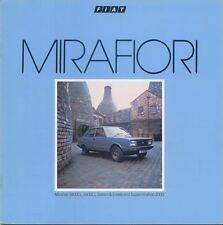 FIAT MIRAFIORI 1400 1600 CL 2000 SUPERMIRAFIORI 1982-84 ORIGINALE UK opuscolo