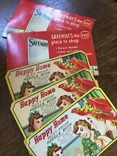 Vintage Needle Books Lot of 5 OLD  Sewing Happy Home Safeway