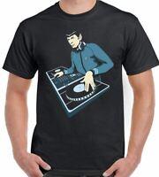 DJ Spock T-Shirt Mens Funny Dance Music Decks Turntable Star Trek