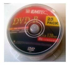 EMTEC DVD-R/25 DVD REGISTRABILE -R 4.7 GB 8X CAKE B. 25 PZ