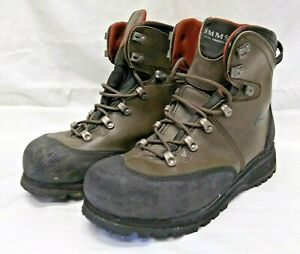 Simms Men's Freestone Wading Boots Size 10 Vibram Rubber Sole Fly Fishing Boots
