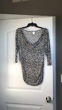 Old Navy Black Leopard Animal Print Maternity Pullover Sweater Medium soft EUC!