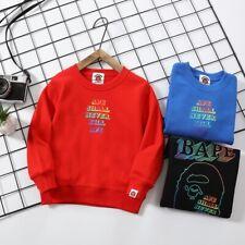 2020 Kids Boy Girl Bape Gradien Color Sweatershirt Hoodies Crewneck Hoodie