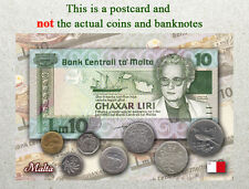 Postcard: Malta Circulating Coins and Currency (Banknote) 2007