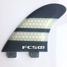 Fcs V2 PC K2.1 Triquad Planche De Surf Nageoire Ensemble Neuf 5 Fin Set Quad & Thruster