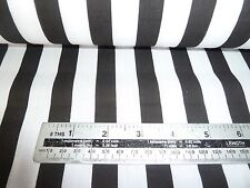 BLACK AND WHITE  BROAD STRIPE  POLY  COTTON  BY THE METRE - FREE POSTAGE