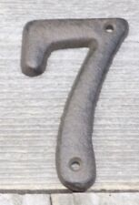 Rustic BROWN Cast Iron Metal House Numbers Street Address # Phone Number 7 SEVEN