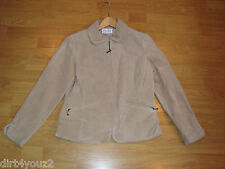 Live A Little Leathers Women Small Beige Leather Coat Suede Leather