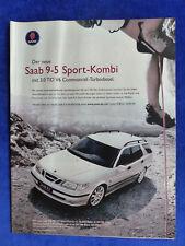 Saab 9-5 3.0 TiD Sport-Kombi - Werbeanzeige Reklame Advertisement 2001 __ (483