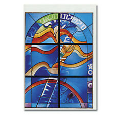 """One Greeting Card Words """" Shalom """" Peace Stained Glass Window at Beth Shalom"""