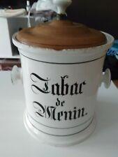 Tabaktopf Tabac de Menin / Menen Westflandern/Belgien um 1770-1800  21,5 cm hoch