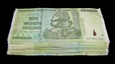 50 x Zimbabwe 10 Trillion Dollar banknotes- paper money currency 1/2 bundle