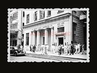 1950s ASIA LIFE BUILDING CAR BRITISH INDIA GUARD Vintage Hong Kong Photo #1343