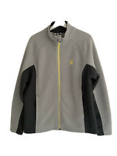 Spyder Mens Ski Sports Jacket Two Tone Grey Size Large