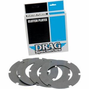 Drag Specialties Steel Clutch Plate Kit (4 Plates) for Shovelhead 68-84