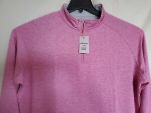 Peter Millar Crown Sport Stretch 1/4 Zip Pullover/Sweater Size L - NEW$125
