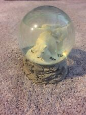 Glass Polar Bear Musical Snow Globe Water Decor Decorative